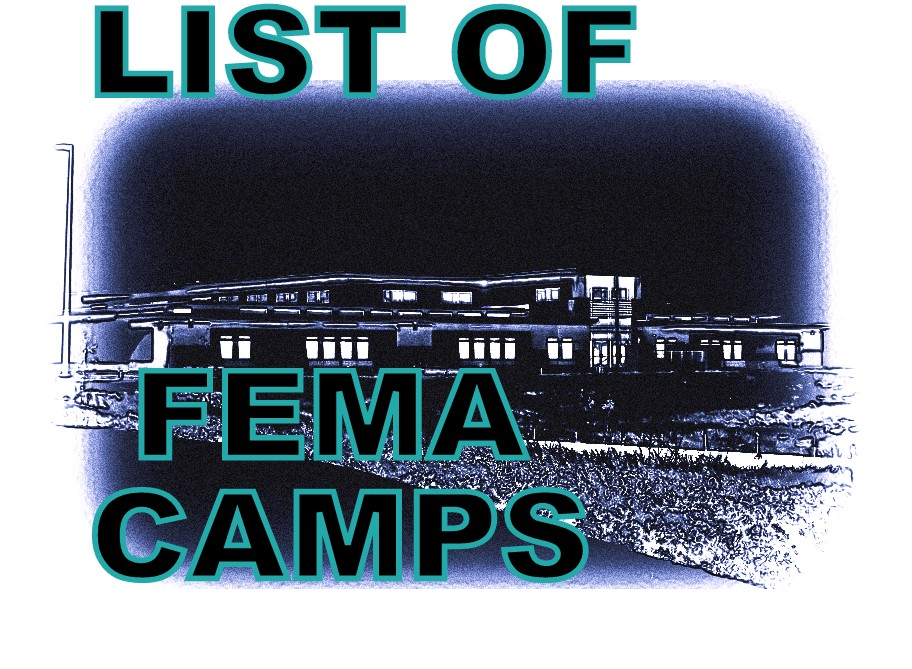 List Of FEMA Camps The Truth Denied - Us fema instilation maps includi hawaii