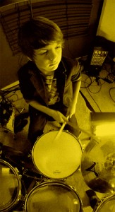 Sebastian Belkin (Michael's 12 year old son and drummer)