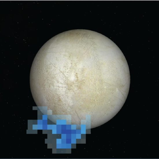 Europa : Image credit: NASA/ESA/L. Roth/SWRI/University of Cologne