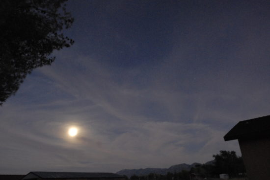 July 11, 2014 @ 8:50pm. After almost 3 weeks of chemtrail free skies the trails began early evening of the 11th. Chemtrails all night in an attempt to block the Full Moon. Solar radiation management? I don't think so.