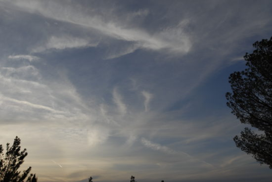 Chemtrail activity Antelope Valley, Ca. July 29, 2014 @ 7:30 pm