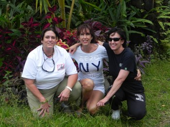 Big Island of Hawaii  Wendy and Kirsten are part of the sustainable living culture in Hawaii. They grow there own food, along with other small farms in the area of Hilo.\Left to right  Wendy, Roxy , Kirsten