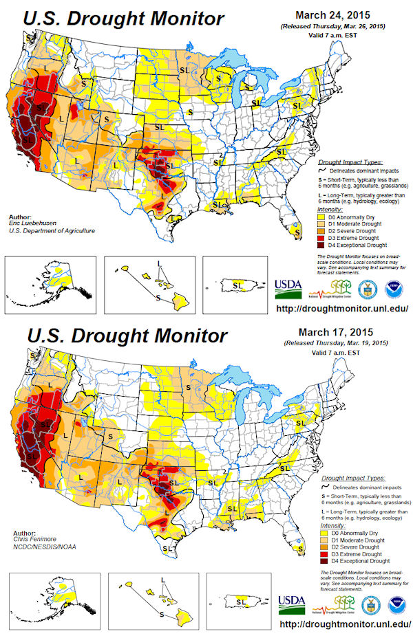 California Drought Causes Mandatory Water Restrictions The Truth - Us department of agriculture california drought map history