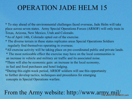 JADE HELM MANIFESTO- According to the US ARMYto the US ARMY