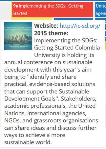 From the UN Sustainable Development page - Calendar for today's objectives. Sept 23, 2015
