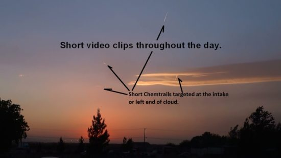 Plasma Cloud over Mojave Ca. 05-23-2012. Chemtrails were sprayed into the cloud all day long.