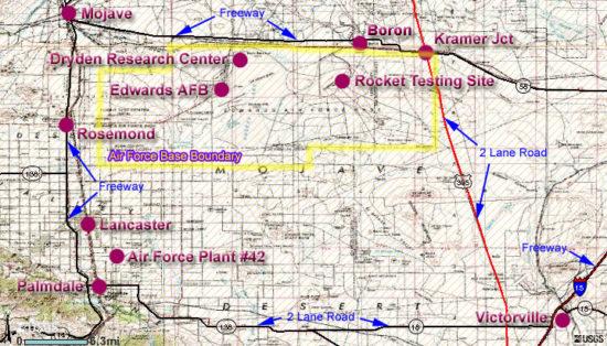 Map of Edwards AFB
