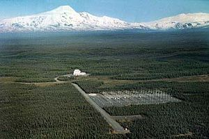 The High Frequency Active Auroral Research Program (HAARP) was an ionospheric research program jointly funded by the U.S. Air Force, the U.S. Navy, the University of Alaska[clarification needed], and the Defense Advanced Research Projects Agency (DARPA),[1] designed and built by BAE Advanced Technologies (BAEAT). Its purpose was to analyze the ionosphere and investigate the potential for developing ionospheric enhancement technology for radio communications and surveillance.[2] The HAARP program operated a major sub-arctic facility, named the HAARP Research Station, on an Air Force-owned site near Gakona, Alaska.