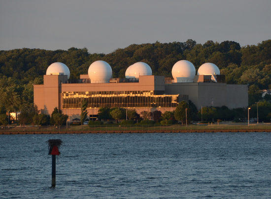 U.S. Naval Research Laboratory, as seen from along the Potomac River, Alexandria, VA