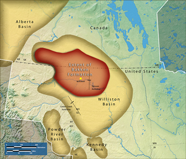 The Bakken formation occupies about 200,000 square miles beneath Montana, North Dakota and Saskatchewan. And it produces about 700,000 barrels of oil per day. By 2020, production is expected to almost double to 1.3 million barrels per day. That represents around 6% of the oil that will be used by the United States by then – and about 1% of the oil consumed worldwide.